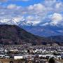 大熊城跡から望む八ヶ岳