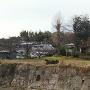 ゲートボール場の石垣