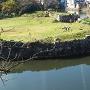 山崎曲輪から見る内堀と中堀の合流点