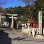 土呂八幡宮 東鳥居の脇にある城址碑