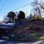 矢上城跡と東海道新幹線
