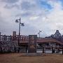 舟入公園から見た唐津城