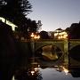 二重橋と伏見櫓(夕暮れ)