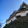 和歌山城小天守と大天守を見上げる