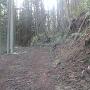 登城路途中の石積