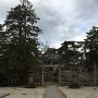 松江神社からの天守屋根