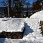 西櫓台の石垣・石段