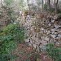 大手門谷側の石垣
