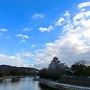 月見橋から見た岡山城