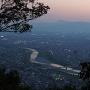 夕暮れ長良川