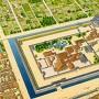 慶長期二条城復元図[提供:香川元太郎]