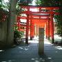 金王八幡宮に隣接する豊栄稲荷神社の鳥居