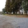 報仏寺駐車場脇の土塁