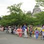 ゆかた祭り(姫路城)[提供:坂井市観光連盟]