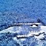 雪景色の赤木城[提供:西山地区 地域まちづくり協議会]
