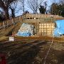 瓦塀と土塁(北側)
