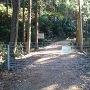 城に至る林道入り口