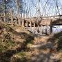 園路の橋(桟道近くから見た)