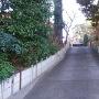 道になっている空堀跡