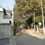出城跡の厳島神社入口