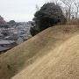 臼井城 本丸 切岸