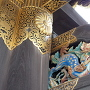 唐門の唐獅子牡丹の彫刻