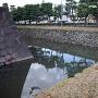 北東隅、慶長期のものと思われる石垣