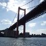船上からの若戸大橋