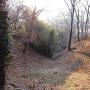 谷底に向かって落ちる竪堀