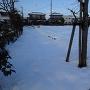雪に埋もれた空堀