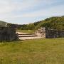 石垣と虎口門跡
