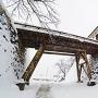 天秤櫓・廊下橋雪景