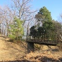 空堀に架かる木橋