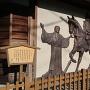 清水銀行の壁面の絵(一豊と千代)