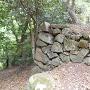 山上部の石垣