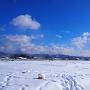 雪のあとの晴れ間に