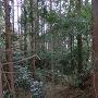 坂田城4郭と3郭の間の空堀