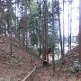 坂田城二郭と主郭の間の堀