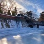 高島城 冬の天守と冠木橋