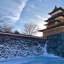 高島城 冬の天守