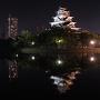 天守水鏡◆広島夜城
