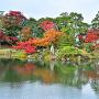 玄宮園の蓬莱島と紅葉 2012