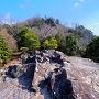 物見台から城跡方向