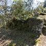 山頂の石碑付近