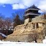 上田城 尼ヶ淵と雪だるま1