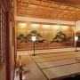 篠山城、上段の間大床「老松図」