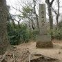 本丸址の城址碑