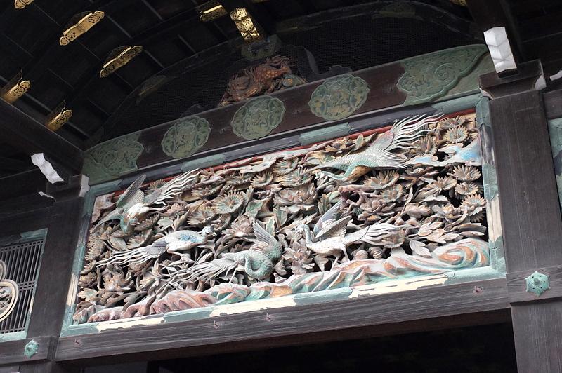 二の丸御殿、車寄入口にある鸞鳥の彫刻[二条城]