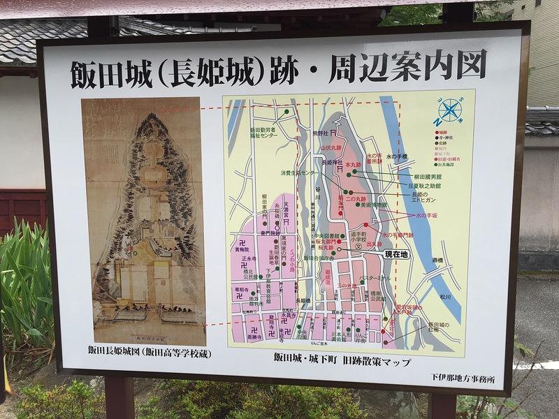 飯田城(長姫城)跡・周辺案内図