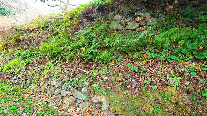 本丸北下の石垣